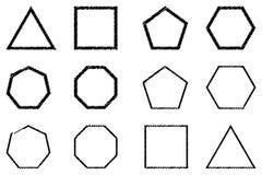 Polygon - vektoruppsättning Royaltyfria Foton