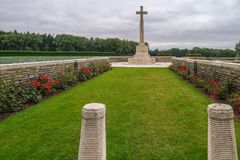 Polygon Wood WW1 Cemetery near Ypres. In Belgium Stock Photography