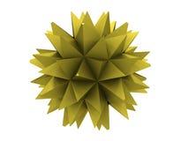 Polygon of yellow metal Royalty Free Stock Photos