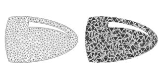 Polygonal 2$α σφαίρα πλέγματος και εικονίδιο μωσαϊκών απεικόνιση αποθεμάτων