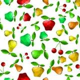 Polygonal άνευ ραφής σχέδιο της Apple αχλαδιών Στοκ Εικόνες