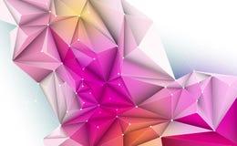 Polygonal ανασκόπηση Αφηρημένη επιστήμη, φουτουριστικός, έννοια σύνδεσης δικτύων απεικόνιση αποθεμάτων
