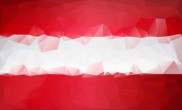 Polygonal ανασκόπηση Χαμηλό πολυ ύφος τριγώνων σημαιών της Αυστρίας Στοκ φωτογραφίες με δικαίωμα ελεύθερης χρήσης