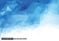 Polygonal ανοικτό μπλε υπόβαθρο Στοκ Εικόνες