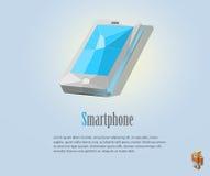 Polygonal απεικόνιση PrintVector του smartphone, σύγχρονα εικονίδια, χαμηλό πολυ αντικείμενο Στοκ Φωτογραφίες