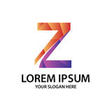 Polygonal αρχικό Ζ με το λογότυπο Στοκ φωτογραφίες με δικαίωμα ελεύθερης χρήσης
