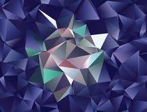 Polygonal αφηρημένο υπόβαθρο Διανυσματική τέχνη συνδετήρων Στοκ εικόνα με δικαίωμα ελεύθερης χρήσης