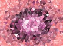 Polygonal αφηρημένο υπόβαθρο Διανυσματική τέχνη συνδετήρων Στοκ Φωτογραφία