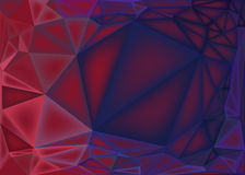 Polygonal αφηρημένο υπόβαθρο, χαμηλή πολυ ρόδινη και πορφυρή κλίση διανυσματική απεικόνιση