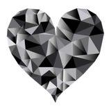 Polygonal μαύρο διάνυσμα καρδιών απεικόνιση αποθεμάτων