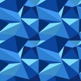 Polygonal μπλε σχέδιο Στοκ Εικόνες