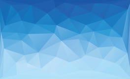 Polygonal μπλε υπόβαθρο Στοκ Φωτογραφία