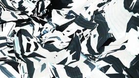 Polygonal να αναβοσβήσει δυσλειτουργίας κυματισμού επιφάνειας αφηρημένη Î διανυσματική απεικόνιση