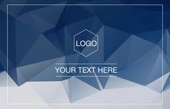 Polygonal πρότυπο ευχετήριων καρτών Στοκ Φωτογραφίες