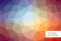 Polygonal πρότυπο υποβάθρου Στοκ Εικόνες