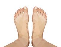 Polygonal πόδι που συλλαμβάνεται ανωτέρω στο άσπρο υπόβαθρο Στοκ εικόνα με δικαίωμα ελεύθερης χρήσης