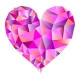 Polygonal ρόδινο διάνυσμα καρδιών απεικόνιση αποθεμάτων