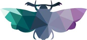Polygonal σκιαγραφία τριγώνων της πεταλούδας Στοκ Εικόνες