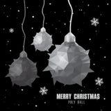 Polygonal σχέδιο σφαιρών Χριστουγέννων απεικόνιση αποθεμάτων
