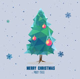 Polygonal σχέδιο σφαιρών χριστουγεννιάτικων δέντρων ελεύθερη απεικόνιση δικαιώματος