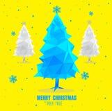 Polygonal σχέδιο χριστουγεννιάτικων δέντρων απεικόνιση αποθεμάτων