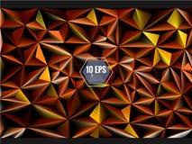 Polygonal τρισδιάστατο αφηρημένο υπόβαθρο στο πορτοκαλί χρυσό χρώμα Στοκ φωτογραφίες με δικαίωμα ελεύθερης χρήσης