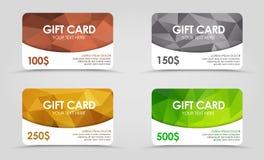 Polygonal υπόβαθρο καρτών δώρων Στοκ εικόνες με δικαίωμα ελεύθερης χρήσης