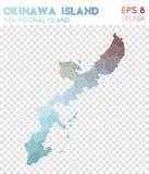 Polygonal χάρτης νησιών της Οκινάουα, νησί ύφους μωσαϊκών διανυσματική απεικόνιση
