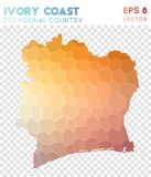 Polygonal χάρτης της Ακτής του Ελεφαντοστού, χώρα ύφους μωσαϊκών ελεύθερη απεικόνιση δικαιώματος