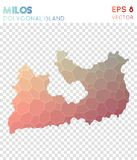 Polygonal χάρτης της Μήλου, νησί ύφους μωσαϊκών ελεύθερη απεικόνιση δικαιώματος