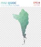 Polygonal χάρτης Quoc Phu, νησί ύφους μωσαϊκών ελεύθερη απεικόνιση δικαιώματος