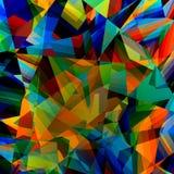 ζωηρόχρωμος γεωμετρικός ανασκόπησης Αφηρημένο τριγωνικό σχέδιο Polygonal απεικόνιση τέχνης Πολυ σχέδιο ύφους Έννοια τριγώνων Στοκ Φωτογραφία