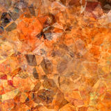 Polygonal abstract background. In brown and orange colors Royalty Free Illustration