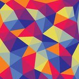Polygonal abstract background - colored vector pattern Royalty Free Stock Photo