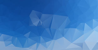 Polygonal abstract background consisting of triangles blue color.  stock illustration