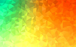 Polygonal abstract Background - green, yellow, orange. Polygonal vector mosaic - green, yellow, orange - autumn colors Stock Images