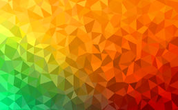 Polygonal abstract Background - green, yellow, orange. Polygonal vector mosaic - green, yellow, orange - autumn colors Royalty Free Stock Photography