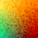 Polygonal abstract Background - green, yellow, orange Stock Photography