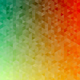 Polygonal abstract Background - green, yellow, orange. Polygonal vector mosaic - green, yellow, orange - autumn colors Stock Photography
