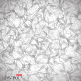 Polygonal Abstract background. Low poly, molecule and communication . Vector Illustration Stock Photography