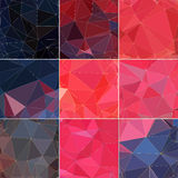 Polygonal abstract background, low poly, pink and purple Royalty Free Stock Image