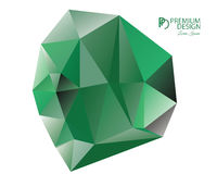 Polygonal Abstract Background and PD Logo. Polygonal Abstract Background Design and PD Logo, EPS 10 supported Royalty Free Stock Image