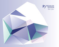 Polygonal Abstract Background and PD Logo. Polygonal Abstract Background Design and PD Logo, EPS 10 supported Royalty Free Stock Photography