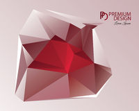 Polygonal Abstract Background and PD Logo. Polygonal Abstract Background Design and PD Logo, EPS 10 supported Stock Photos