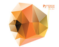 Polygonal Abstract Background and PD Logo. Polygonal Abstract Background Design and PD Logo, EPS 10 supported Royalty Free Stock Photo