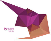 Polygonal Abstract Background and PD Logo. Polygonal Abstract Background Design and PD Logo, EPS 10 supported Stock Photo