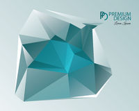 Polygonal Abstract Background and PD Logo. Polygonal Abstract Background Design and PD Logo, EPS 10 supported Royalty Free Stock Images