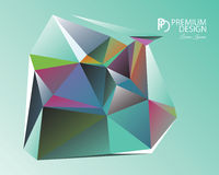 Polygonal Abstract Background and PD Logo. Polygonal Abstract Background Design and PD Logo, EPS 10 supported Stock Images