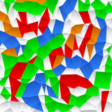 Polygonal abstract background. Polygonal abstract background, random colored version Royalty Free Stock Images
