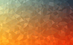 Polygonal abstract Background - red, yellow, orange, blue Royalty Free Stock Image
